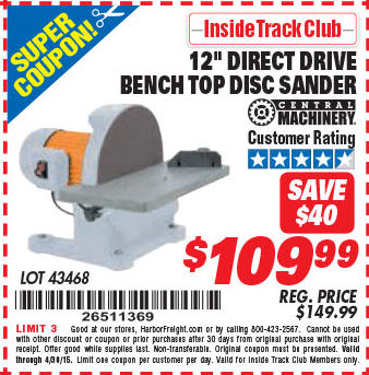 Disc profile coupon code