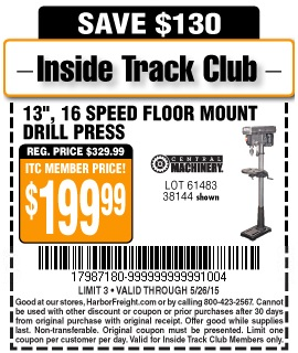 Harbor freight tools coupon database free coupons 25 for 13 floor drill press