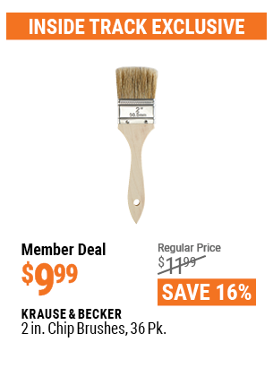 Harbor Freight 36PK 2 IN. CHIP BRUSHES coupon