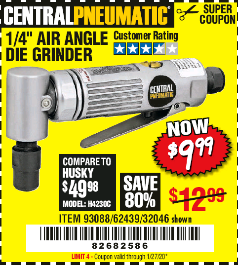 Harbor Freight AIR ANGLE DIE GRINDER coupon