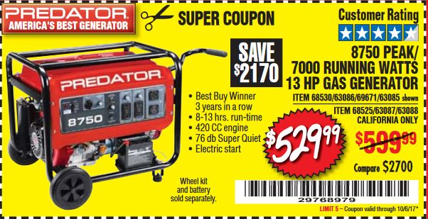 Harbor freight 8750 generator coupon / Mission tortillas coupon 2018