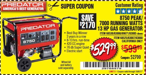 Harbor freight 7000 watt generator coupon tree classics coupon owners manual predator generator 7000 8750 bernardkotlar fandeluxe Gallery