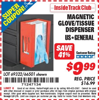 Magnetic glove dispenser harbor freight