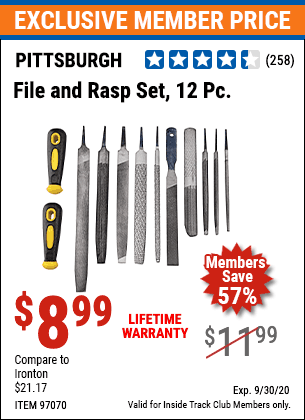 Harbor Freight 12 PIECE FILE AND RASP SET coupon