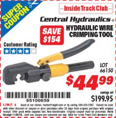 Harbor Freight Tools Coupon Database - Free coupons, 25 percent ...