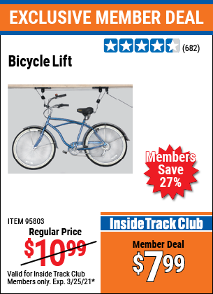 Harbor Freight BICYCLE LIFT coupon