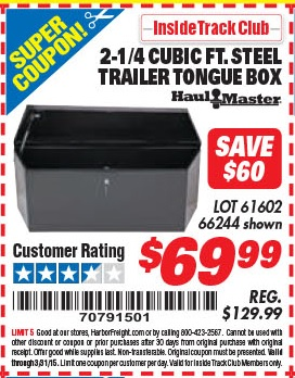Coupons for pj tool and supply