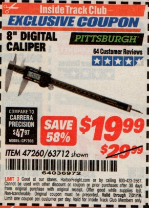 "www.hfqpdb.com - 8"" DIGITAL CALIPER Lot No. 47260"