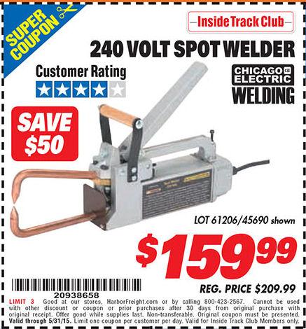 Welder source coupons