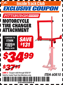 Harbor Freight MOTORCYCLE ATTACHMENT coupon