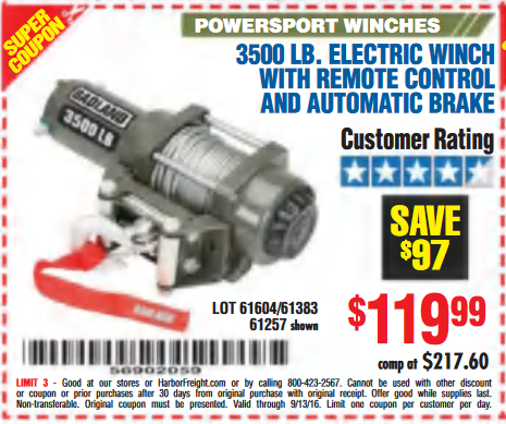 Harbor freight winch 12000 / Omega sports printable on