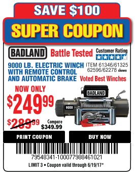 Harbor freight 9000 pound winch : 5 hour energy 2018 on harbor freight winch coupon, harbor freight electric winch, harbor freight badlands winch, warn 8000 lb winch,