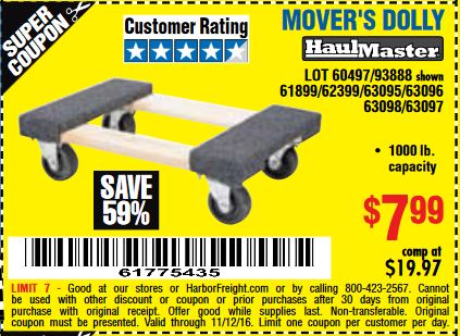 Harbor freight tools coupon database free coupons 25 for Outboard motor dolly harbor freight