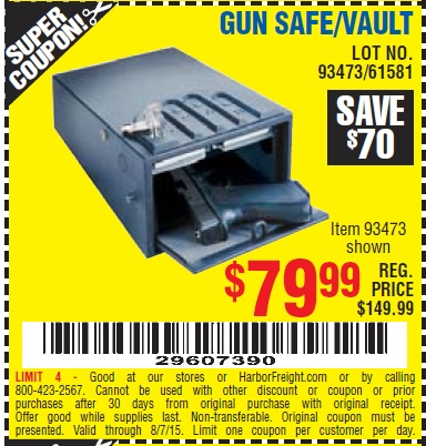 Gun safe coupons