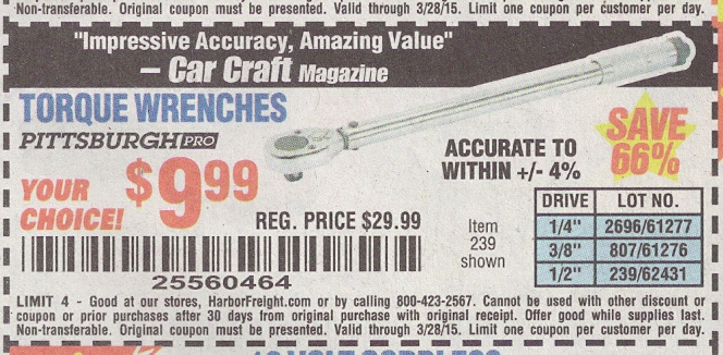 Harbor freight torque wrench coupon code