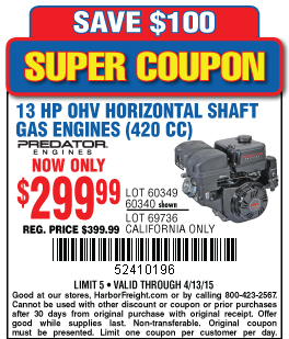 420cc predator engine coupon - Coupon accessories online