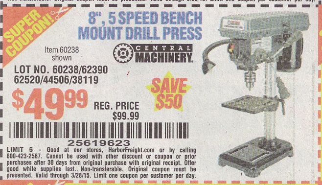 Coupons bench