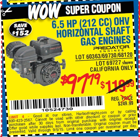 Gas coupons