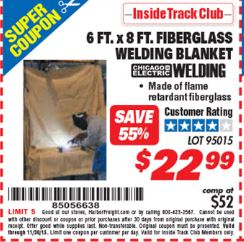 Harbor freight free coupon blanket