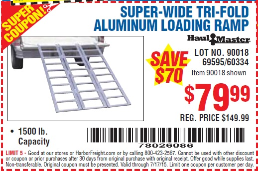 Discount ramp coupons