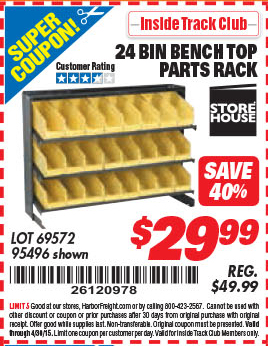 Coupons for players bench