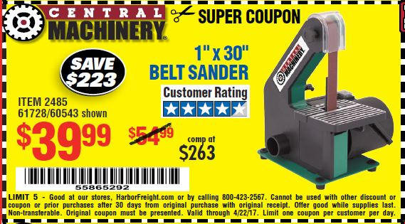 harbor freight 30 coupon code