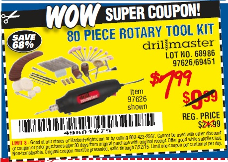 review on the 249 Piece harbor freight Rotary Tool Accessory Set