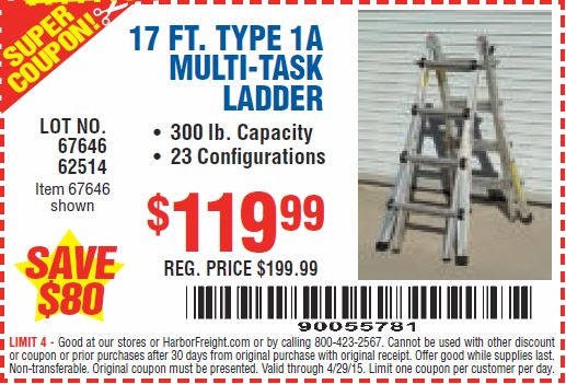 coupons for ladders