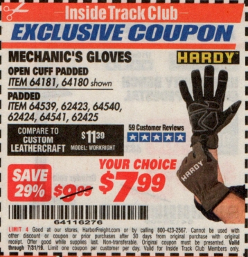 www.hfqpdb.com - MECHANIC'S GLOVES Lot No. 64181/64180/64539/62433/64540/62424/64541/62425