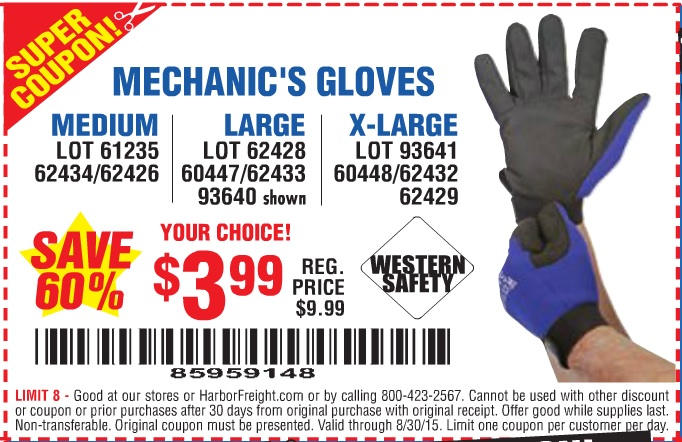 Gloves coupons