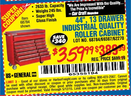 Harbor Freight Toolbox Coupon 44 Harbor Freight Toolbox