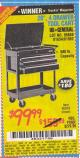 "Harbor Freight Coupon 26"", 4 DRAWER TOOL CART Lot No. 95659/61634/61952 Expired: 5/25/15 - $99.99"