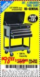 "Harbor Freight Coupon 26"", 4 DRAWER TOOL CART Lot No. 95659/61634/61952 Expired: 10/28/15 - $98.88"