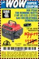 Harbor Freight Coupon 900 PEAK/700 RUNNING WATTS 2 HP (63 CC) 2 CYCLE GAS RECREATIONAL GENERATOR Lot No. 66619/60338/69381/62472 Expired: 7/20/15 - $94.49