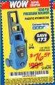 Harbor Freight Coupon 1650 PSI PRESSURE WASHER Lot No. 68333/69488 Expired: 5/21/16 - $76.54