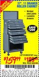 "Harbor Freight Coupon 27"" ROLLER CABINET Lot No. 63026 Expired: 9/10/15 - $159.99"