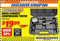 Harbor Freight ITC Coupon QUICK CONNECT COMPRESSION TESTER Lot No. 62622/95187 Expired: 8/31/18 - $19.99