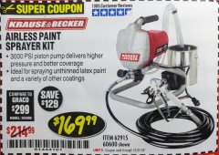 Harbor Freight Coupon AIRLESS PAINT SPRAYER KIT Lot No. 62915/60600 Valid Thru: 12/31/18 - $169.99