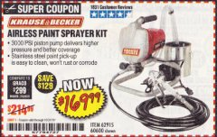 Harbor Freight Coupon AIRLESS PAINT SPRAYER KIT Lot No. 62915/60600 Valid Thru: 10/31/19 - $169.99