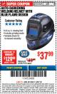 Harbor Freight ITC Coupon AUTO-DARKENING WELDING HELMET WITH BLUE FLAME DESIGN Lot No. 91214/61610 Expired: 3/8/18 - $37.99