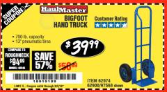 Harbor Freight Coupon BIGFOOT HAND TRUCK Lot No. 62974/62900/67568/97568 Expired: 6/2/18 - $39.99