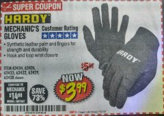 Harbor Freight Coupon MECHANIC'S GLOVES2 Lot No. 64181/64180/64539/62433/64540/62424/64541/62425 Expired: 8/1/18 - $3.99