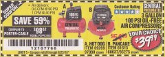 Harbor Freight Coupon 3 GALLON, 100 PSI OILLESS AIR COMPRESSORS Lot No. 69269/97080/60637/61615/95275 Expired: 8/25/18 - $39.99