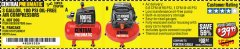 Harbor Freight Coupon 3 GALLON, 100 PSI OILLESS AIR COMPRESSORS Lot No. 69269/97080/60637/61615/95275 Valid Thru: 5/4/19 - $39.99