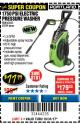 Harbor Freight Coupon 1750 PSI ELECTRIC PRESSURE WASHER Lot No. 63254/63255 Valid Thru: 10/31/17 - $77.99