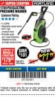 Harbor Freight Coupon 1750 PSI ELECTRIC PRESSURE WASHER Lot No. 63254/63255 Expired: 3/18/18 - $77.99