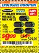 "Harbor Freight ITC Coupon 3"" CUT-OFF WHEELS FOR METAL PACK OF 25 Lot No. 93178/61150/61355 Expired: 7/31/17 - $9.99"