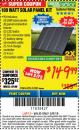Harbor Freight ITC Coupon 100 WATT SOLAR PANEL KIT Lot No. 63585/64335 Expired: 3/8/18 - $149.99