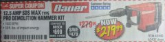 Harbor Freight Coupon 12.5 AMP SDS MAX TYPE PRO HAMMER KIT Lot No. 63440/63437 Expired: 7/31/18 - $219.99