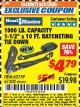 "Harbor Freight ITC Coupon 1000 LB. CAPACITY 1-1/2"" X 10 FT. RATCHETING TIE DOWN Lot No. 62759/61302 Expired: 8/31/17 - $4.79"